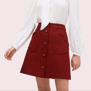 Spade pocket skirt